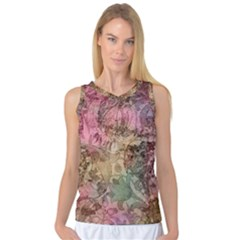 Texture Background Spring Colorful Women s Basketball Tank Top