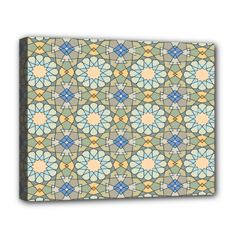 Arabesque Flower Star Deluxe Canvas 20  X 16   by AnjaniArt