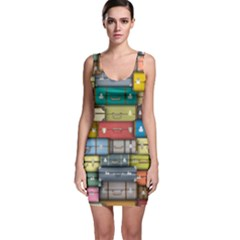 Colored Suitcases Sleeveless Bodycon Dress by AnjaniArt