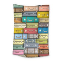 Colored Suitcases Small Tapestry by AnjaniArt