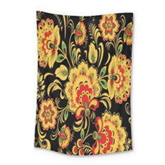 Flower Yellow Green Red Small Tapestry by AnjaniArt