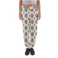 Hearts And Yellow Washi Zigzags Tileable Women s Jogger Sweatpants by AnjaniArt