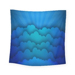 Blue Sky Jpeg Square Tapestry (small) by AnjaniArt
