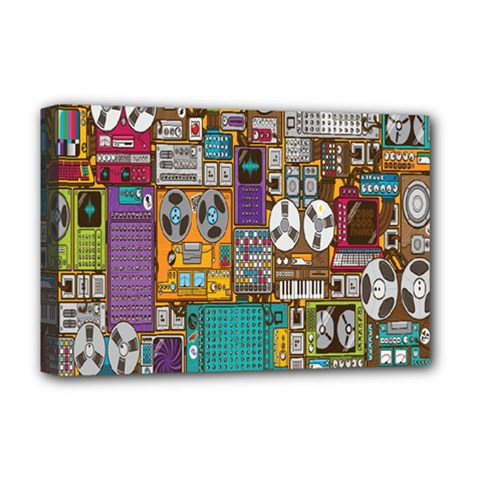 Rol The Film Strip Deluxe Canvas 18  X 12   by AnjaniArt