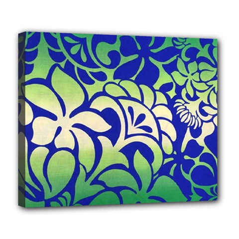 Batik Fabric Flower Deluxe Canvas 24  X 20   by Jojostore
