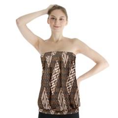 Batik Cap Truntum Kombinasi Strapless Top by Jojostore