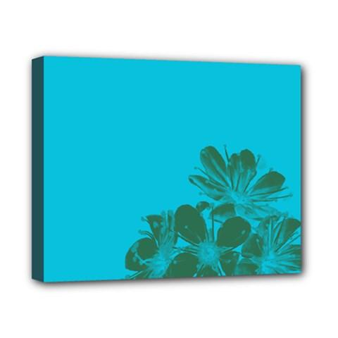 Blue Flower Canvas 10  X 8  by Jojostore