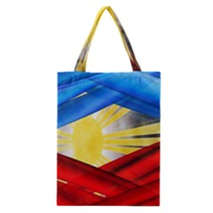 Blue Red Yellow Colors Classic Tote Bag by Jojostore