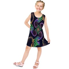 Bright Colorful Action Figures Kids  Tunic Dress by Jojostore