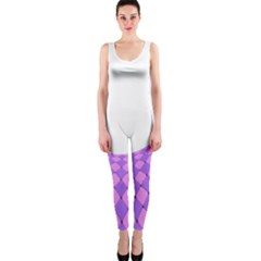 Curve Purple Pink Wave Onepiece Catsuit by Jojostore