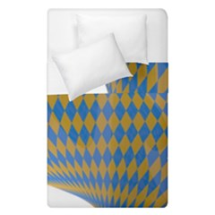 Curve Yellow Blue Duvet Cover Double Side (single Size) by Jojostore