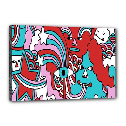Face Mask Sinister Canvas 18  X 12  by Jojostore