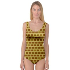 Tessellated Rectangles Lined Up As Bricks Princess Tank Leotard  by Jojostore