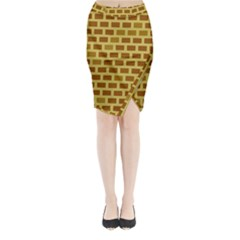 Tessellated Rectangles Lined Up As Bricks Midi Wrap Pencil Skirt by Jojostore