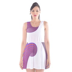 Tortuous Scoop Neck Skater Dress by Jojostore