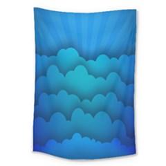 Blue Sky Jpeg Large Tapestry by Jojostore