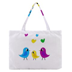 Bird Family Medium Zipper Tote Bag by Valentinaart