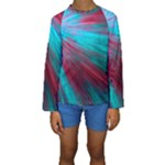 Background Texture Pattern Design Kids  Long Sleeve Swimwear