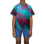 Background Texture Pattern Design Kids  Short Sleeve Swimwear