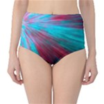 Background Texture Pattern Design High-Waist Bikini Bottoms