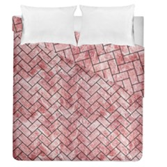 BRK2 BK-RW MARBLE (R) Duvet Cover Double Side (Queen Size) by trendistuff