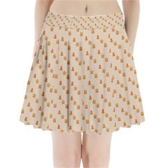Christmas Wrapping Paper Pleated Mini Skirt