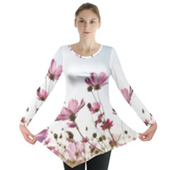 Flowers Plants Korea Nature Long Sleeve Tunic  by Amaryn4rt