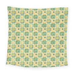 Square Green Yellow Square Tapestry (large)