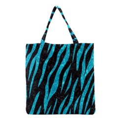 Skin3 Black Marble & Turquoise Marble Grocery Tote Bag by trendistuff