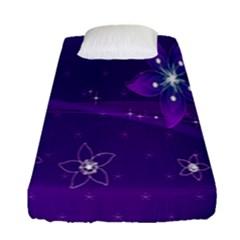 Flowers Purple Fitted Sheet (single Size)
