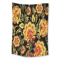Flower Yellow Green Red Large Tapestry by Jojostore