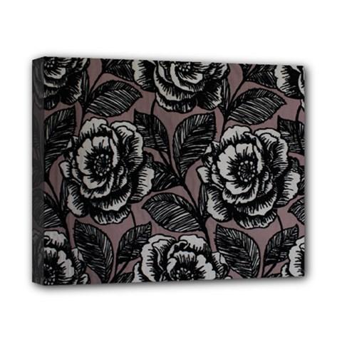 Gray Flower Rose Canvas 10  X 8  by Jojostore