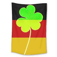 Irish German Germany Ireland Funny St Patrick Flag Large Tapestry by yoursparklingshop