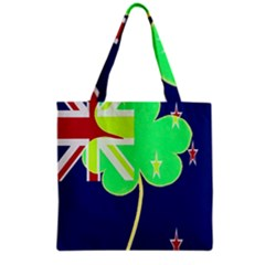 Irishshamrock New Zealand Ireland Funny St Patrick Flag Grocery Tote Bag by yoursparklingshop