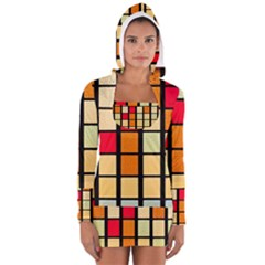 Mozaico Colors Glass Church Color Women s Long Sleeve Hooded T Shirt