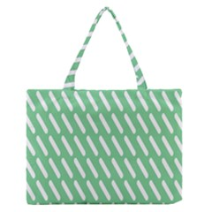 Green White Desktop Medium Zipper Tote Bag by Jojostore