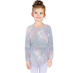 Pastel colored crystal Kids  Long Sleeve Tee by Brittlevirginclothing