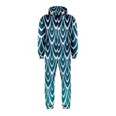 Blue Scale  Hooded Jumpsuit (kids) by Brittlevirginclothing
