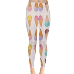 Cute Ice Cream Leggings  by Brittlevirginclothing