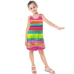 Painted wet  paper Kids  Sleeveless Dress by Brittlevirginclothing