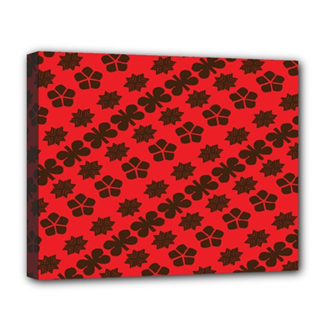 Diogonal Flower Red Deluxe Canvas 20  X 16   by Jojostore