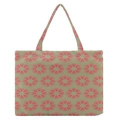 Flower Pink Medium Zipper Tote Bag by Jojostore