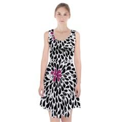 Flower Simple Pink Racerback Midi Dress