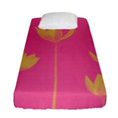 Flower Yellow Pink Fitted Sheet (single Size)