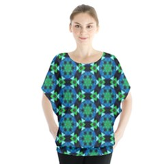 Flower Green Blouse by Jojostore