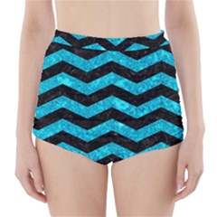 CHV3 BK-TQ MARBLE High-Waisted Bikini Bottoms by trendistuff