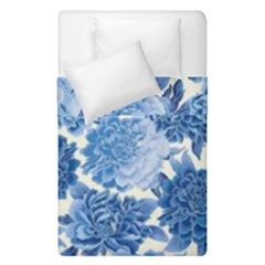 Blue Flower Duvet Cover Double Side (single Size) by Brittlevirginclothing