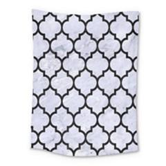 Tile1 Black Marble & White Marble (r) Medium Tapestry