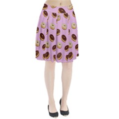 Donuts Pattern   Pink Pleated Skirt by Valentinaart