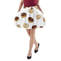 Donuts Pattern A Line Pocket Skirt by Valentinaart